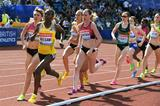 Abeba Aregawi on her way to winning the 1500m at the Birmingham Diamond League (Mark Shearman)