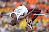Mutaz Essa Barshim in the mens High Jump qualifications at the IAAF World Athletics Championships Moscow 2013 (Getty Images)