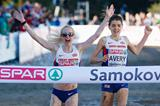 Gemma Steel wins the European cross-country title from British team-mate Kate Avery in Samokov (Getty Images)