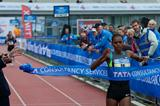 Meseret Hailu winning the 2012 Amsterdam Marathon in a course record time (Amsterdam organisers)