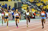 Amantle Montsho ends Allyson Felix's winning streak in Doha over 400m (Errol Anderson)