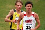 Josh McDougal leads Galen Rupp - NCAA xc (Kirby Lee)