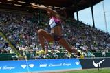 Caterine Ibarguen at the 2013 IAAF Diamond League in Eugene (Kirby Lee)