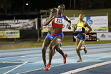 Rose Mary Almanza leads the 800m in Ponce (Organisers)