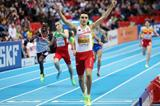 Adam Kszczot successfully defends his European indoor 800m title (Getty Images)