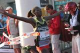 Angela Tanui winning at the 2014 Corrida Internationale de Langueux in France (organisers)