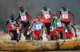 Caleb Ndiku leads a Kenyan sweep of medals in the men's junior race in Bydgoszcz (Getty Images)