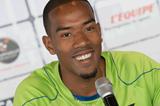 Christian Taylor at the Monaco Diamond League press conference (Philippe Fitte)