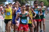 Diego Flores leading in the men's 20km Race Walk at 2013 Pan American Race Walking Cup (Fernando Ruiz)