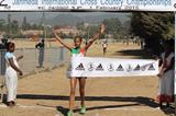 Genet Yalew winning at the 2015 Jan Meda International Cross Country (Bizuayehu Wagaw)