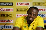 Usain Bolt at the IAAF/BTC World Relays, Bahamas 2015 press conference (Getty Images)