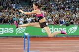 400m Hurdles winner Zuzana Hejnova at the 2013 IAAF Diamond League meeting in Zurich (Jiro Mochizuki)