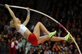 Poland's Anna Rogowska in the pole vault final (Getty Images)