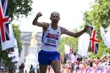 Sergey Kirdyapkin crosses the line in London (Getty Images )