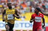 Usain Bolt and Mike Rodgers in the mens 100m at the IAAF World Athletics Championships Moscow 2013 (Getty Images)