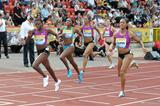 Shericka Williams takes her first 400m victory of the season in Gateshead (Mark Shearman)