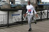 An excited Mo Farah ahead of the 2014 London Marathon (Getty Images)