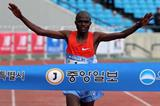 James Kipsang Kwambai wins the JoongAng Marathon in Seoul (Organisers)