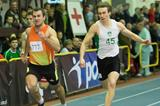 Kamil Krynski (left) wins over 200m at the 2013 Polish indoor championships (Marek Biczyk)