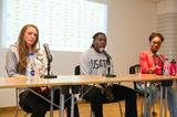 Erica Jarder, Brittney Reese and Tianna Bartoletta at the press conference ahead of the IAAF Diamond League Meeting in Stockholm (Deca Text & Bild)