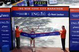 Familiar picture - Paula Radcliffe's third victory in New York (Getty Images)