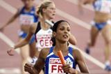 Christine Arron anchors France's 4x100m realy in the European Cup (Getty Images)
