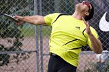Frantz Kruger releases his Finnish record of 69.97m in Helsingborg, Sweden (Göran Lenz)