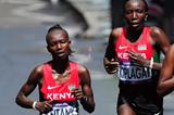 Kenyan distance runners Mary Keitany and Edna Kiplagat (Getty Images)