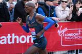 Mo Farah in action in the first half of the 2013 London Marathon (Getty Images)