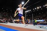 Renaud Lavillenie on his way to victory in the pole vault (Jean-Pierre Durand)