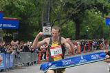 Dathan Ritzenhein winning the Healthy Kidney race with a time of 28:08 (NYRR)