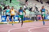 Felipe Dos Santos finishes ahead of Eelco Sintnicolaas in the 100m in Florence (Organisers)
