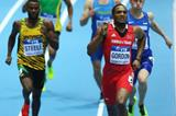 Lalonde Gordon in the 400m heats at the 2014 IAAF World Indoor Championships in Sopot (Getty Images)
