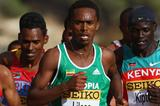 Ethiopia's Feyisa Lilesa (Getty Images)