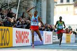 Samuel Tsegay takes the silver medal at the 2014 IAAF World Half Marathon Championships (Getty Images)