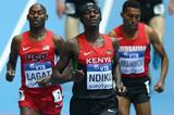 Caleb Ndiku wins his 3000m heat at the 2014 IAAF World Indoor Championships in Sopot (Getty Images)