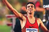 Hicham El Guerrouj at the 1996 Brussels Golden Four meeting (Getty Images)