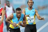 Chris Brown hands over to Michael Mathieu at the IAAF World Relays, Bahamas 2014 (Getty Images)
