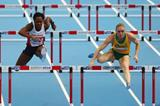 Sally Pearson in the 60m hurdles at the 2014 IAAF World Indoor Championships in Sopot (Getty Images)