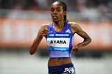 Ethiopia's Almaz Ayana on her way to victory in the 5000m at the IAAF Diamond League meeting in Shanghai (Errol Anderson)