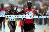 Paul Tergat clinches his second World Half Marathon title - 2000. (Getty Images)