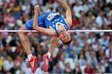 Konstadinos Baniotis of Greece competes in the Men's High Jump qualification during the Women's Marathon on Day 9 of the London 2012 Olympic Games on August 5, 2012 (Getty Images)