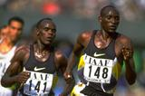 Tom Nyariki leads Paul Koech in the 5000m at the 1997 IAAF Grand Prix Final in Fukuoka (Getty Images)