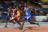 James Dasaolu leads the 100m at the IAAF Continental Cup, Marrakech 2014 (Getty Images)