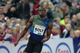 Usain Bolt winning the 200m at the 2013 IAAF Diamond League meeting in Oslo (Jiro Mochizuki)