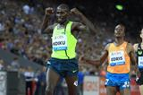 Caleb Ndiku winning the 5000m at the 2014 IAAF Diamond League final in Zurich (Jean-Pierre Durand)