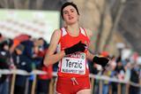 Amela Terzic wins the junior women's race at the European Cross Country Championships (Mark Shearman)