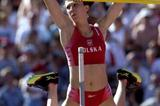 Monika Pyrek (POL) competing at the World Championships in Paris (Getty Images)