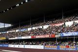A packed back-straight stand at the GE Money Grand Prix in Helsinki adorned by its new roof (Paula Noronen)