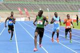 Michael O'Hara wins the 200m at the Carifta Games Trials (Anthony Foster)